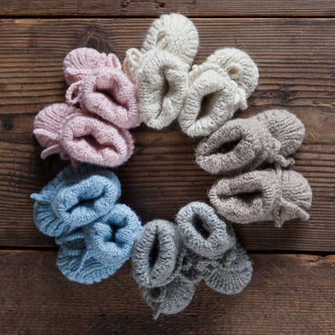 Alpaca Baby Booties in Multiple Colors