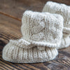 Alpaca Baby Booties in Ivory