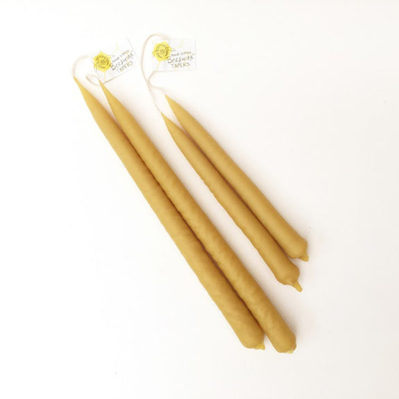 Hand Dipped Beeswax Tapers - Alysia Mazzella - New York Makers