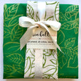 Handprinted Apron and Matching Tea Towel Gift Bundle - Erin Hall Studio - New York Makers