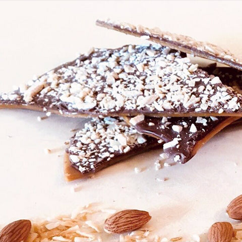 Coconut Toasted Almond Toffee with Maldon Sea Salt