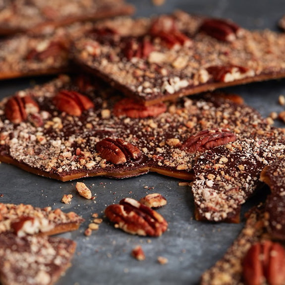 Toasted Pecan + Bourbon Toffee - Biggie's Crack Toffee - New York Makers