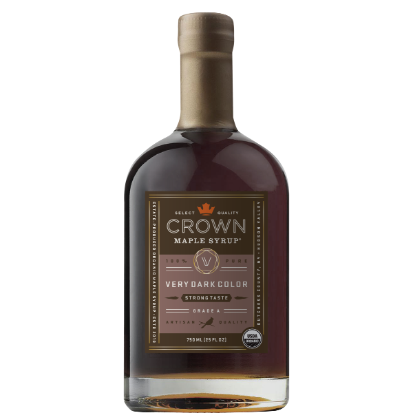 Maple Syrup: Grade A, Very Dark Color, Strong Taste (750ml) - Crown Maple - New York Makers