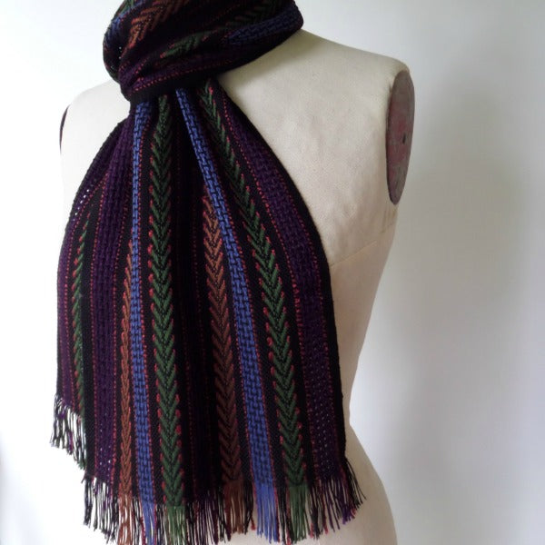 Bamboo Multi Stripe Scarf in Multiple Colors - frittelli & LOCKWOOD - New York Makers