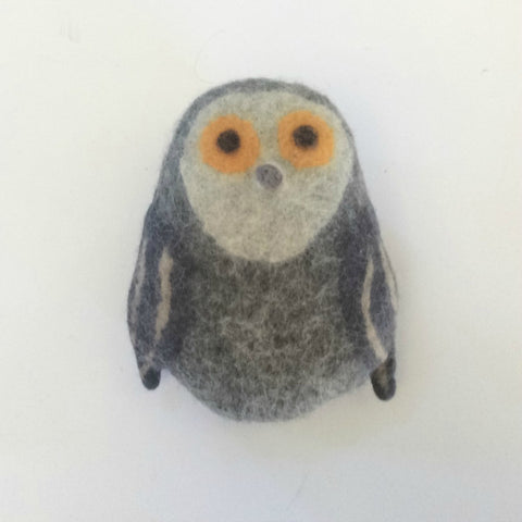 Benny the Barn Owl Felted Stuffed Animal in Multiple Sizes