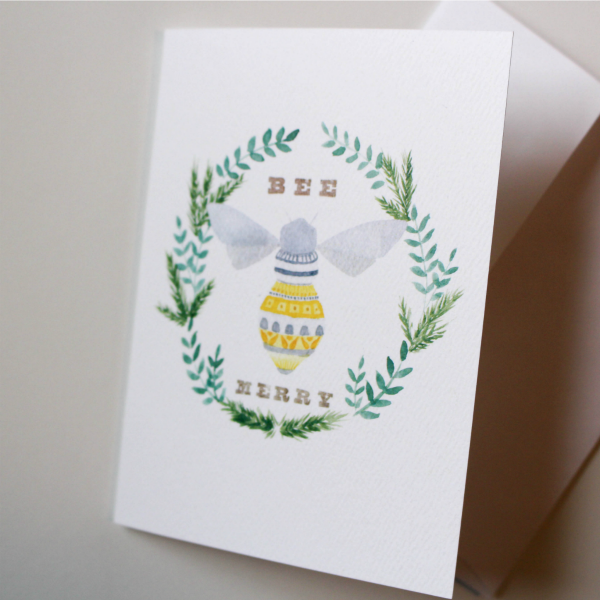 Holiday Bee Merry Card Set
