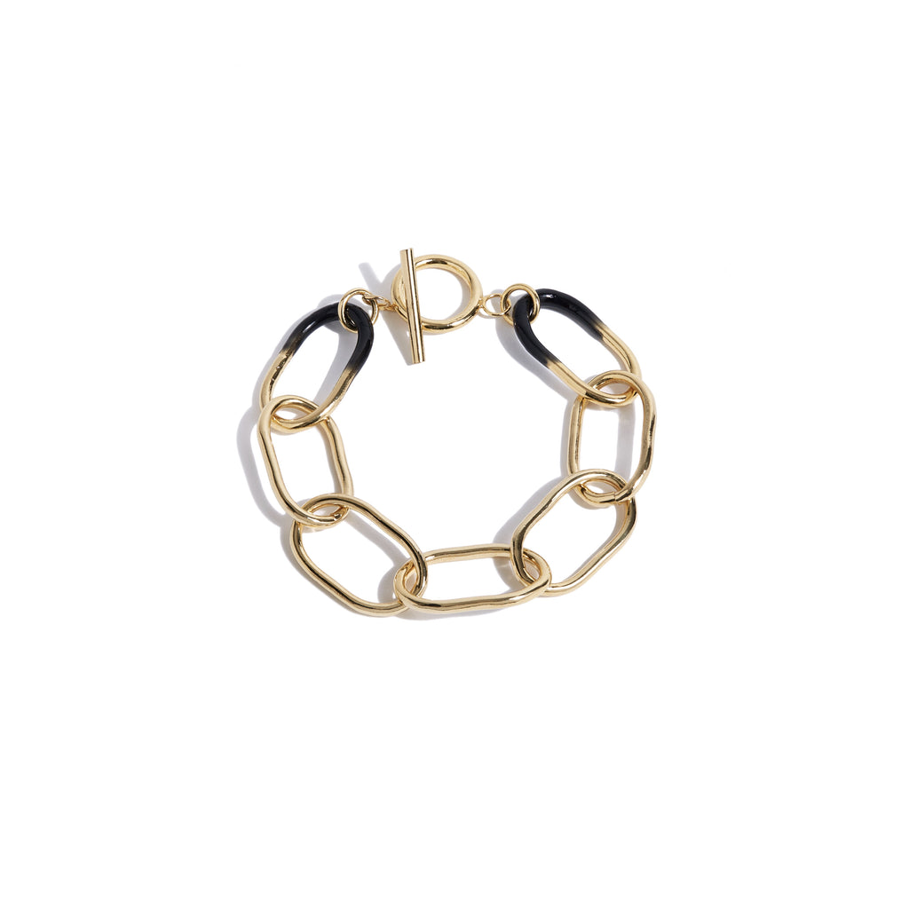 Bernardo Bracelet in Gold & Black