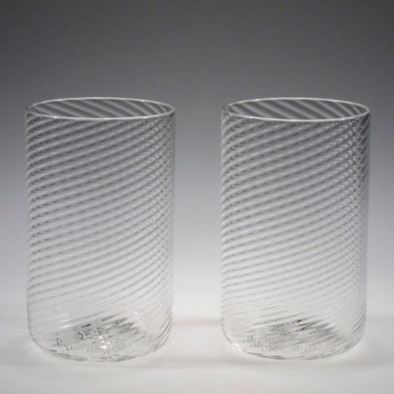 Handblown Large Drinking Glasses - Tom Stoenner Glass - New York Makers