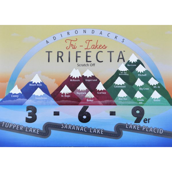 Tri-Lakes Trifecta Scratch Off Card - Peak Quest - New York Makers