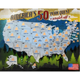 America's 50 Peak Quest Scratch Off Poster - Peak Quest - New York Makers