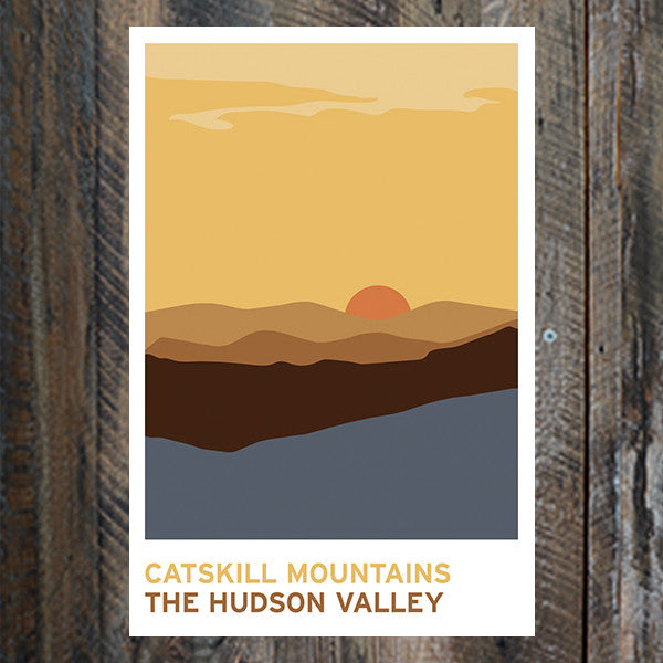 Catskill Mountains Print - Bold Version Design - New York Makers
