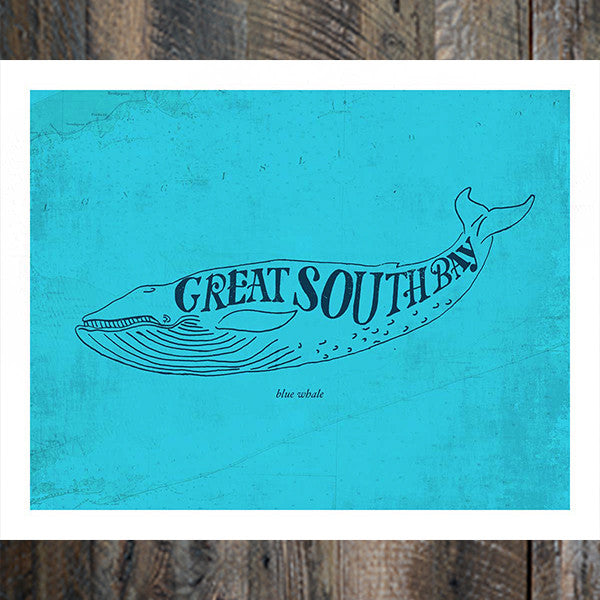Great South Bay Whale Print