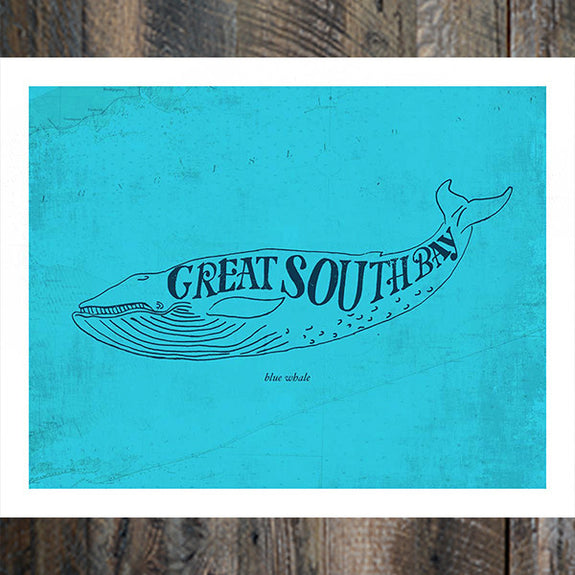 Great South Bay Whale Print - Bold Version Design - New York Makers