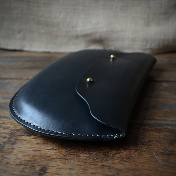Leather Boobook Clutch
