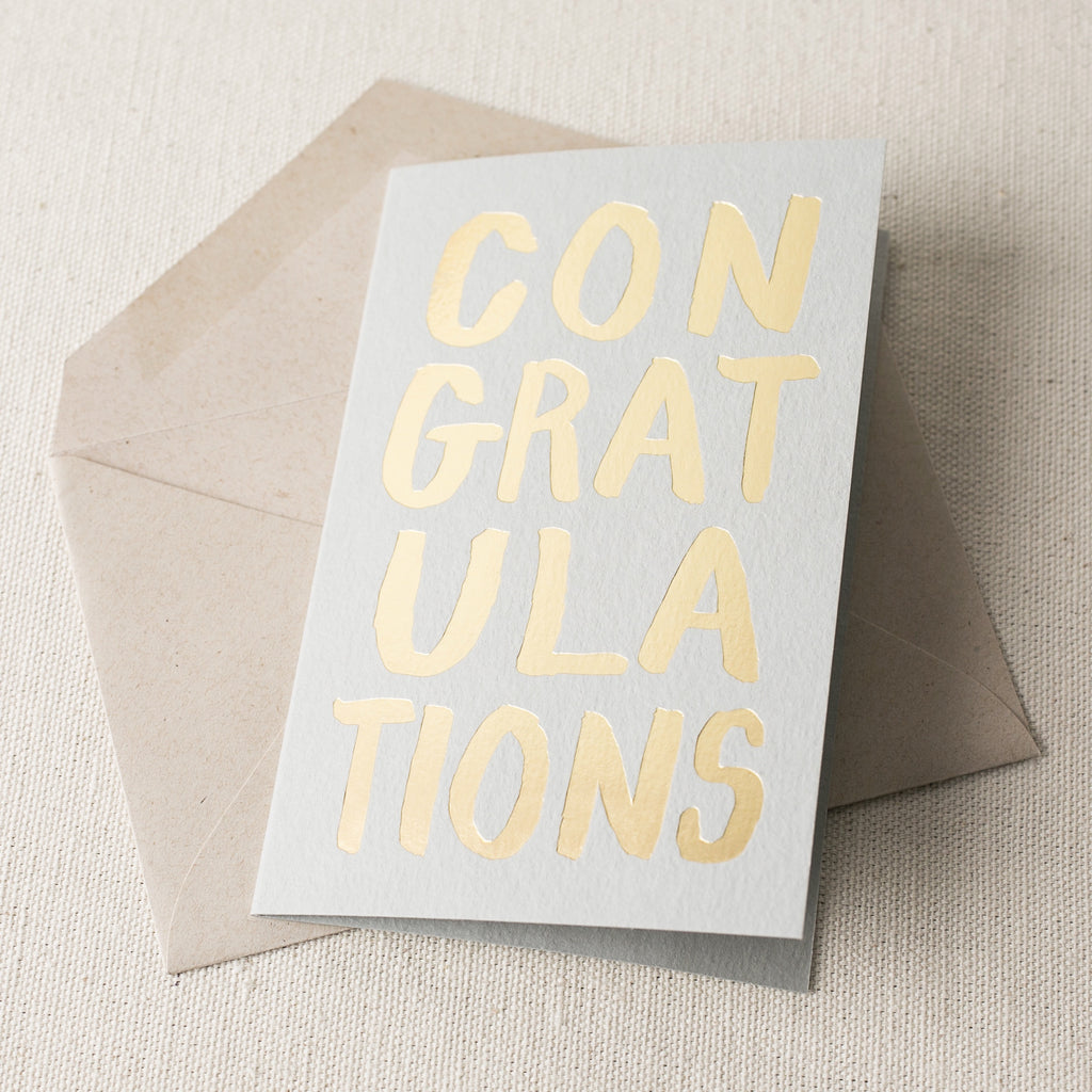 """Congratulations"" Foil Card"