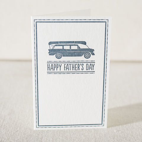 Father's Day Adventures Letterpress Card