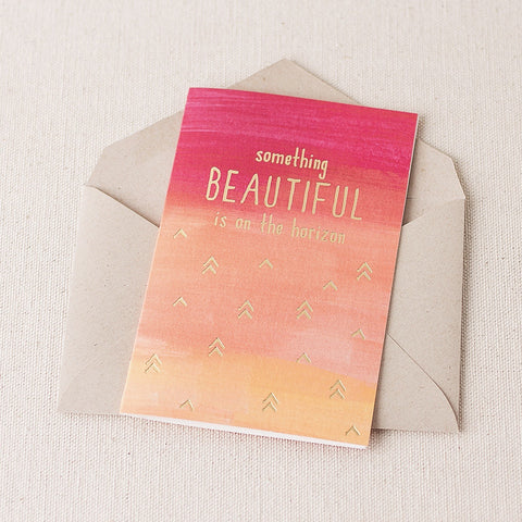 """Beautiful Horizon"" Foil Card"