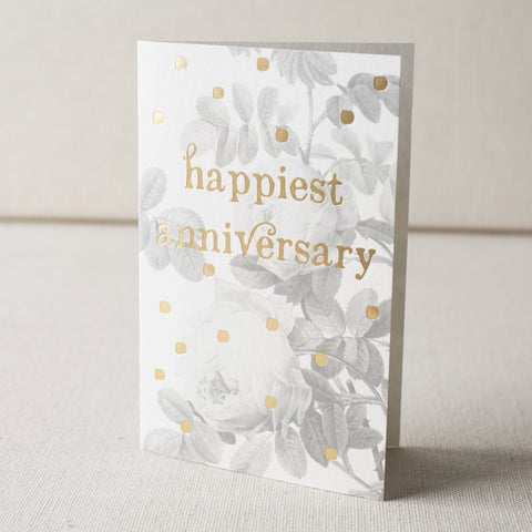 """Happiest Anniversary"" Foil Card"
