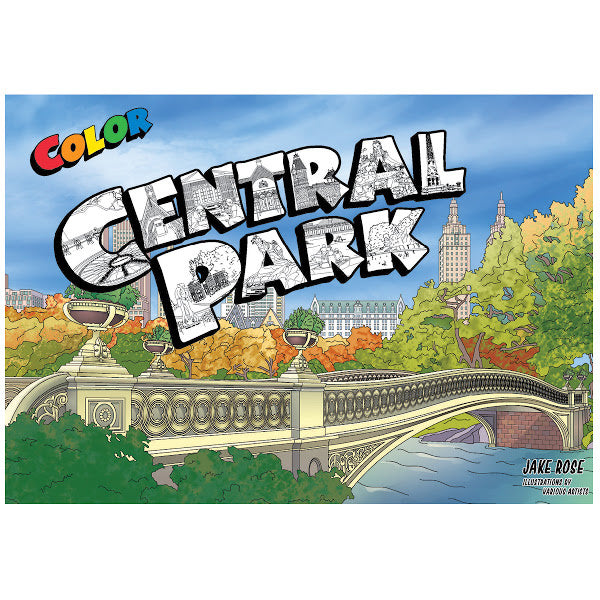 Central Park Coloring Guide Book - Color Our Town - New York Makers