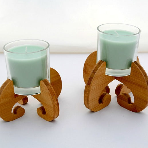 Crescent Pillar Candle Holder in Multiple Sizes - GioGio Design - New York Makers
