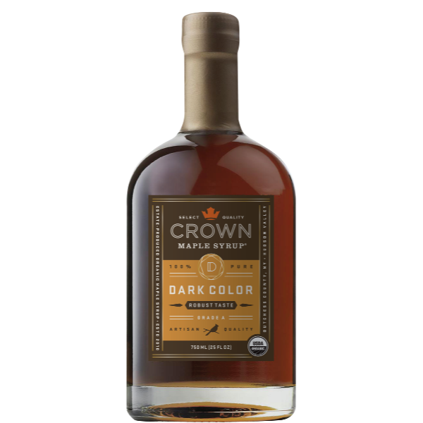 Maple Syrup: Grade A, Dark Color, Robust Taste (750ml) - Crown Maple - New York Makers