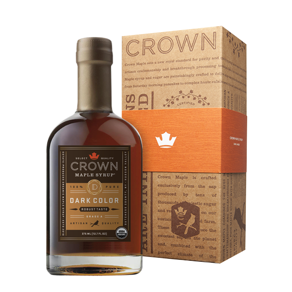 Maple Syrup: Grade A, Dark Color, Robust Taste in Royal Treatment Box (375ml) - Crown Maple - New York Makers
