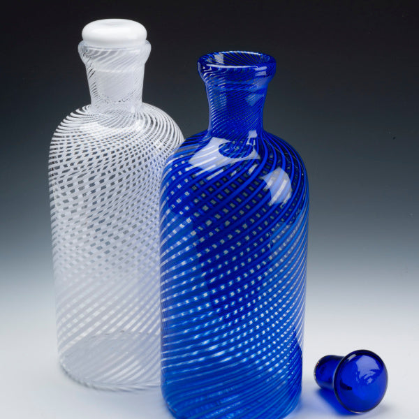 Vertical Study Decanter - Bobby Sharp Glassworks - New York Makers