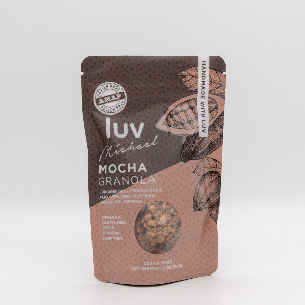 Organic Gluten and Dairy-Free Mocha Granola - Luv Michael - New York Makers