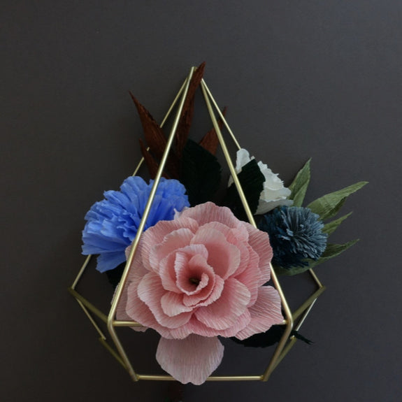 Diamond Paper Flower Wall Hanging - Summer Space Studio - New York Makers