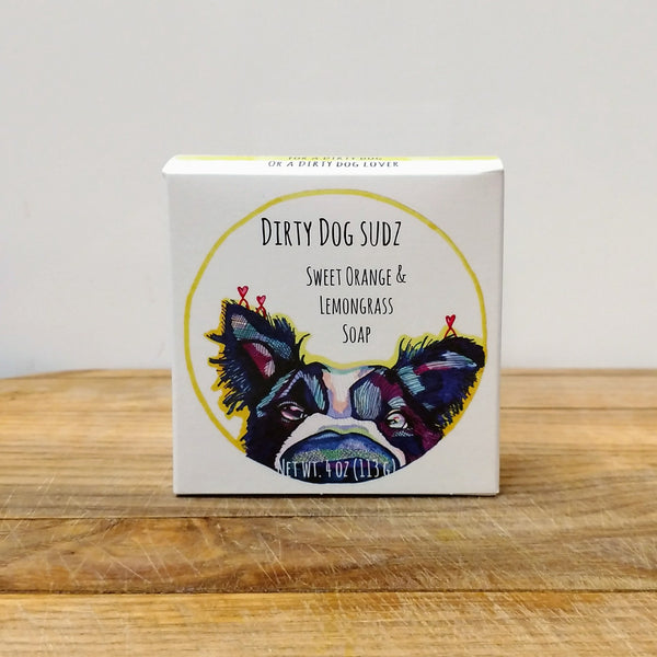 Sweet Orange & Lemongrass Dog Soap - Chicory Farm Soap - New York Makers