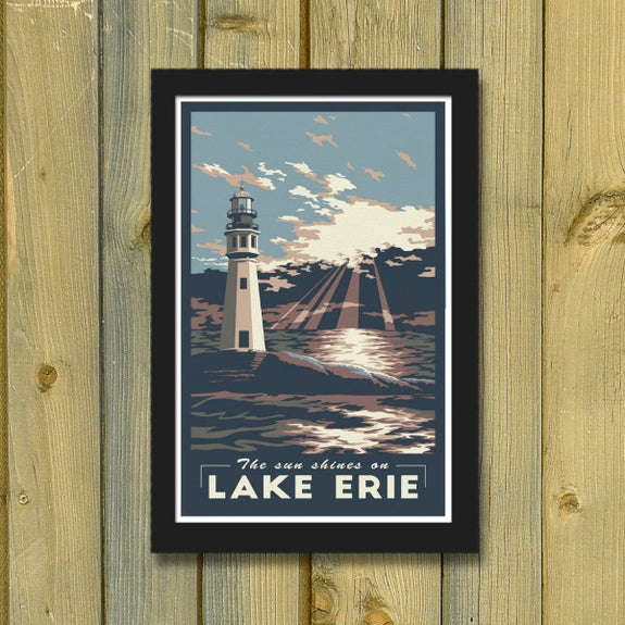 Lake Erie Print - Lionheart Graphics - New York Makers
