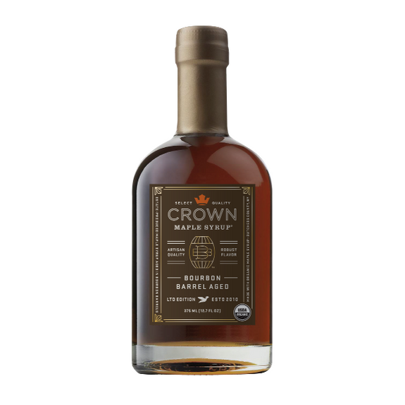 Maple Syrup: Limited Edition Bourbon Barrel Aged (375ml) - Crown Maple - New York Makers