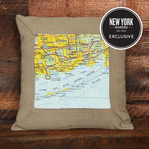 Fire Island Topographic Pillow