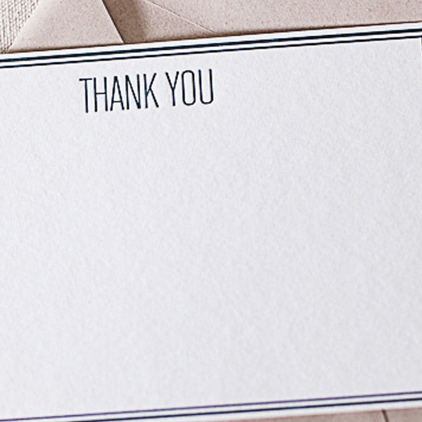 "Letterpress ""Khaki"" Thank You Cards"