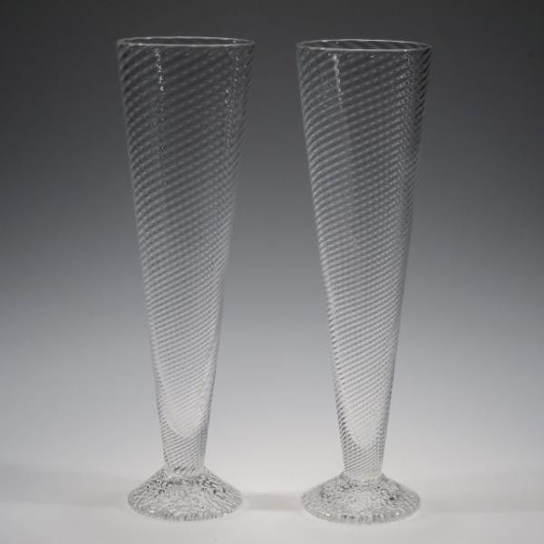 Handblown Champagne Glasses