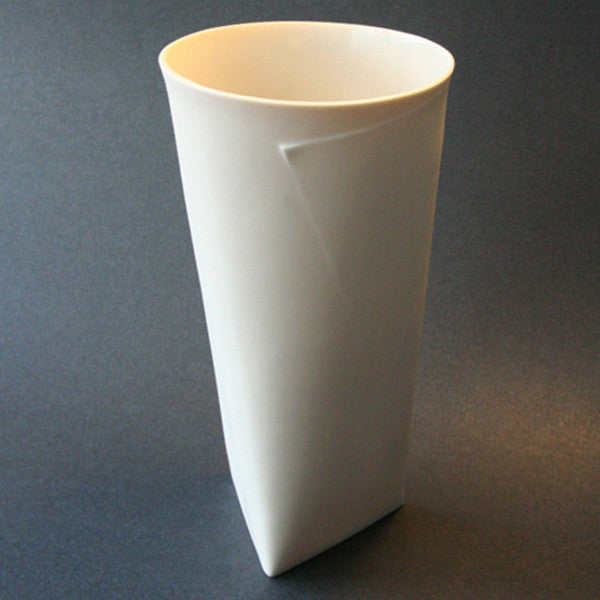 "Porcelain Folded ""V"" Vase - Large"