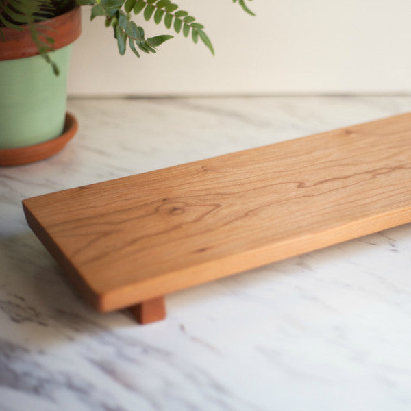 Cherry Footed Serving Board