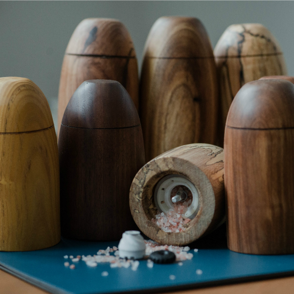 Salt and Pepper Grinder in Multiple Wood Finishes