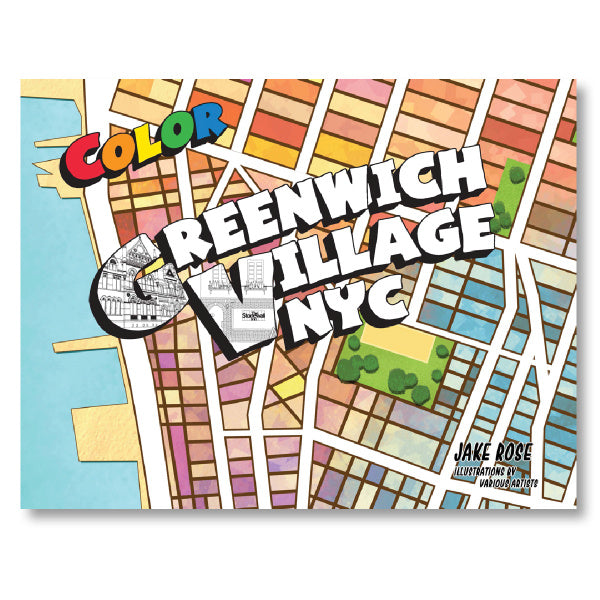 Greenwich Village NYC Coloring Book