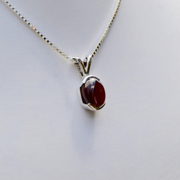 Garnet Cabochon Necklace - Garnet Studio - New York Makers