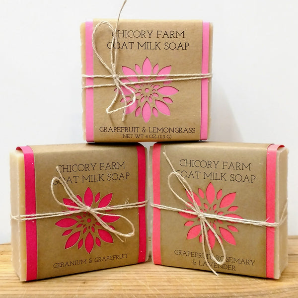 Grapefruit Soap Sampler - Chicory Farm Soap - New York Makers