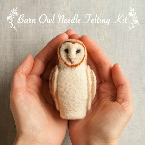 Barn Owl Needle Felting Kit - Grey Fox Felting - New York Makers