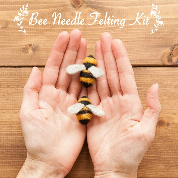 Bee Needle Felting Kit - Grey Fox Felting - New York Makers