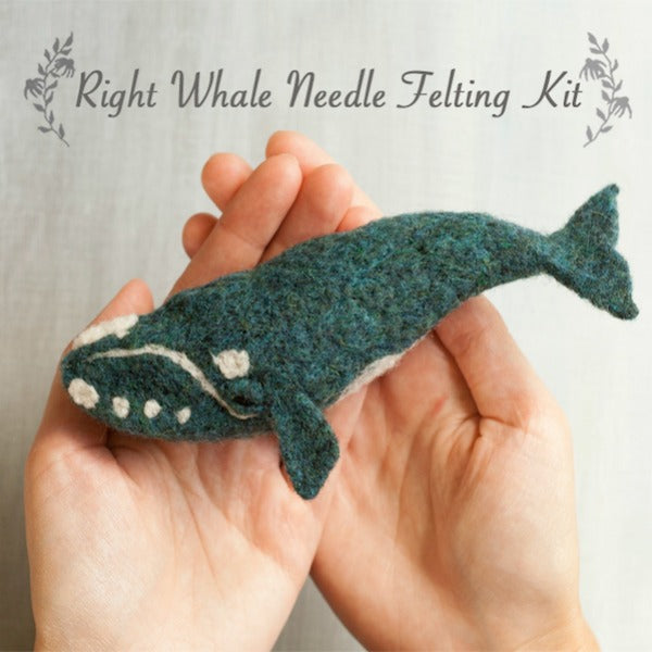 Right Whale Needle Felting Kit - Grey Fox Felting - New York Makers