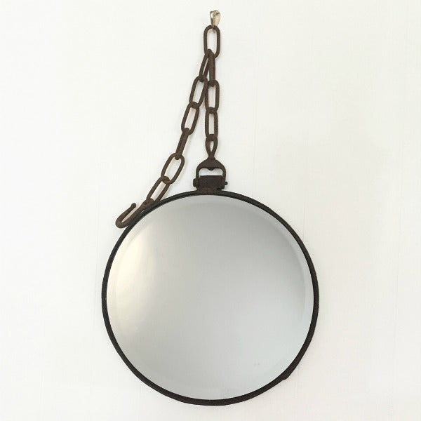 Leather Equestrian Heel Chain Mirror