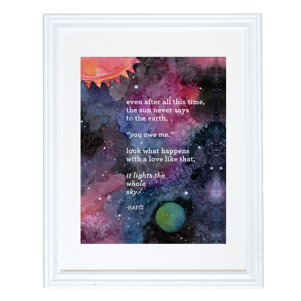 "Hafiz ""Even After All This Time"" Art Print"