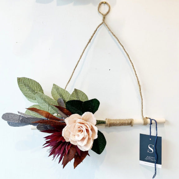 Triangle Paper Flower Wall Hanging