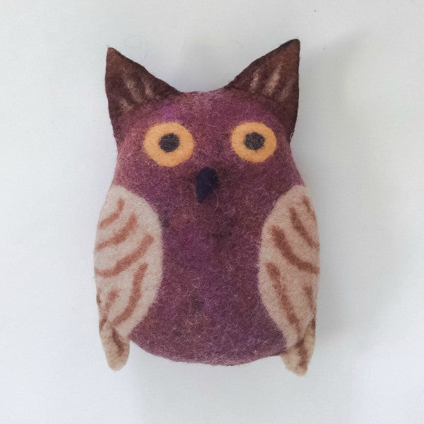 Herbie the Horned Owl Large Felted Stuffed Animal