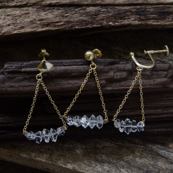 Herkimer Diamond Earrings - Joan Hornig Jewelry - New York Makers
