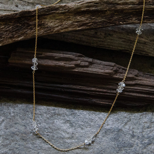 The Herkimer Diamond Necklace II - Joan Hornig Jewelry - New York Makers